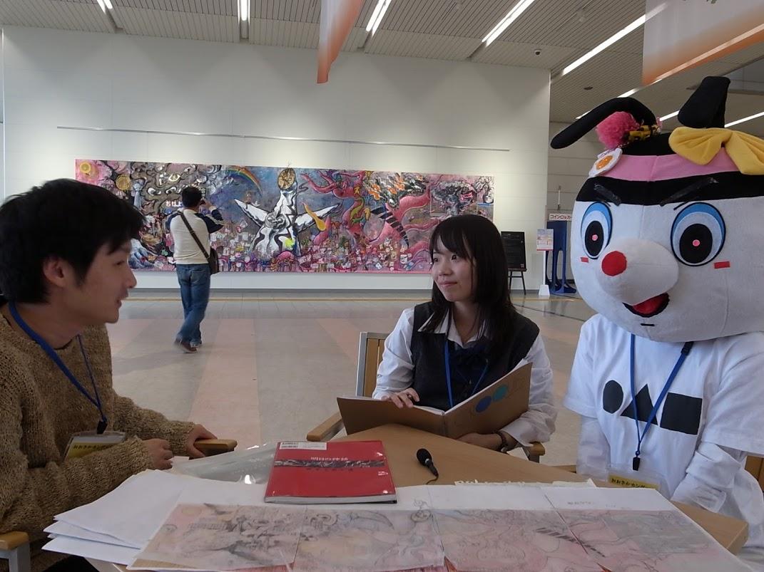 interview vol2「岡本太郎さんの『明日の神話』を下敷きに、自分たちでつくりかえようという思いから「◯△□の神話」というタイトルに」種(天王寺学館高等学校芸術コースを中心とした若手美術集団)